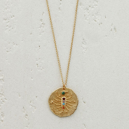 Scorpio zodiac sign necklace : See all color GOLD