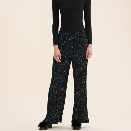Pleated trousers with floral print : Trousers & Jeans color PRINTED