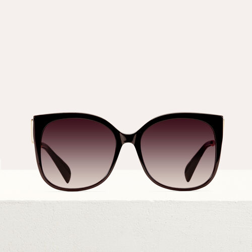 Retro sunglasses : Eyewear color Burgundy