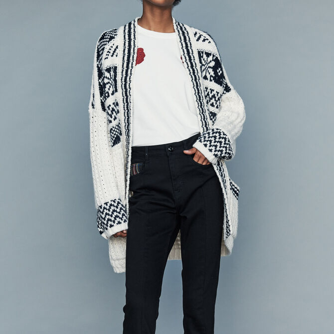Oversize jacket in jacquard knit - See all - MAJE