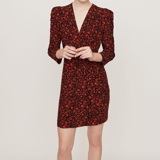 Short crepe dress - See all - MAJE
