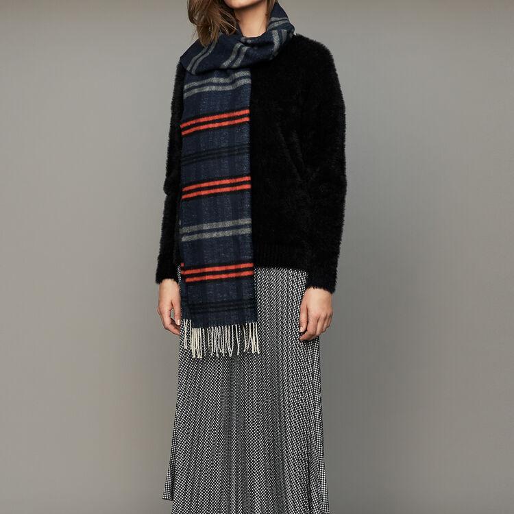 Faux-fur sweater : Knitwear color Black 210