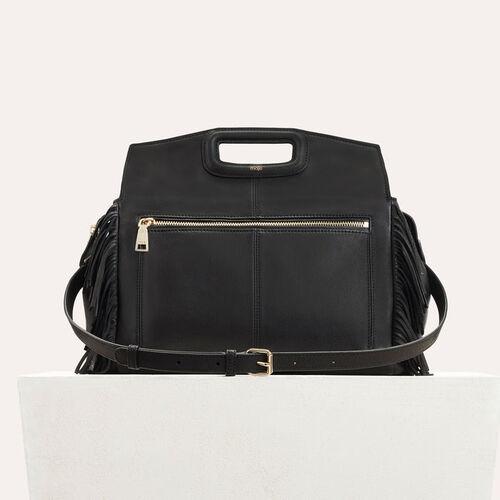 Leather shoulder bag : M bags color Black 210