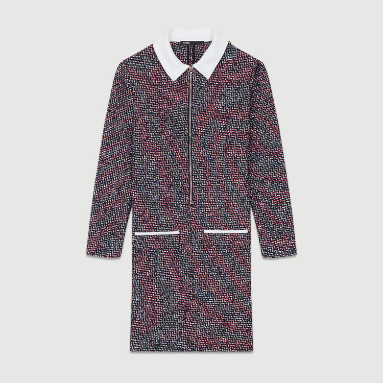 Tweed shirt dress : See all color Jacquard