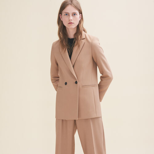 Mid-length tailored jacket : Blazers color Camel