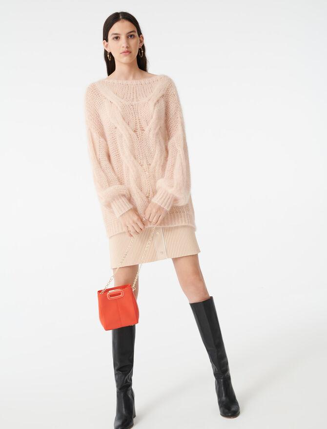 Cable knit sweater - Knitwear - MAJE