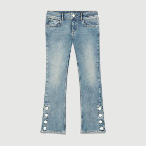 7/8 length flared cut jeans : Jeans color Denim