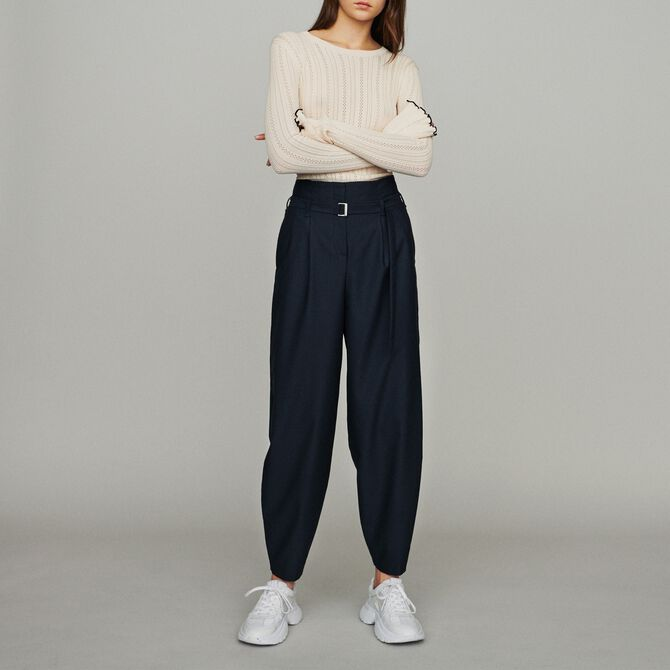 Wide-leg pants with tight ankles - See all - MAJE