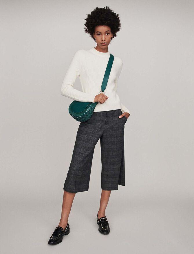 Ribbed turtleneck sweater - Knitwear - MAJE