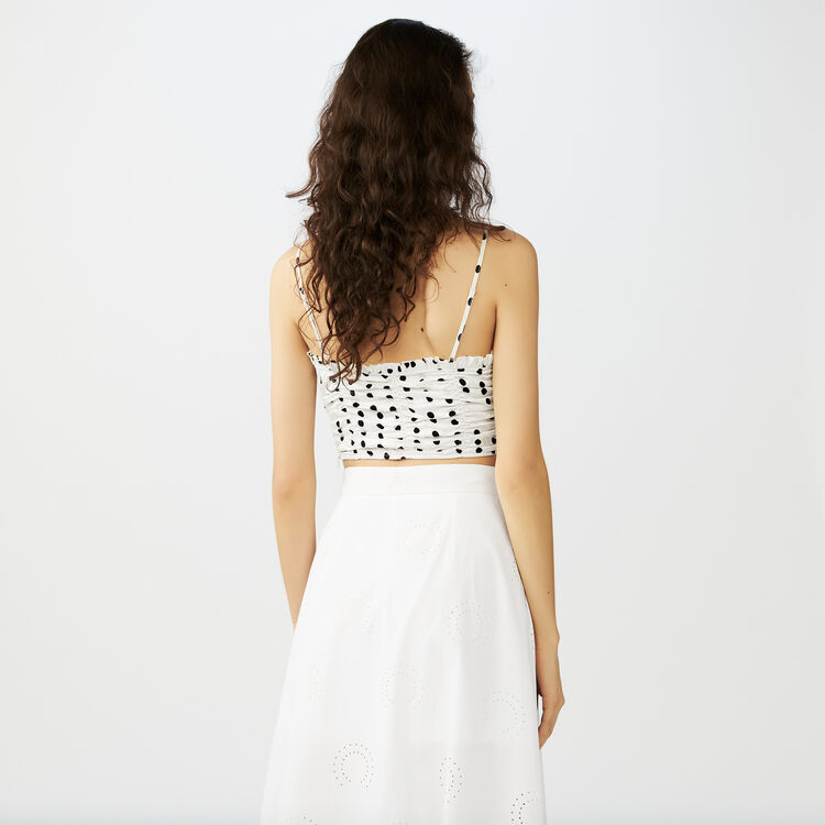 Thin strap crop top : Tops color White