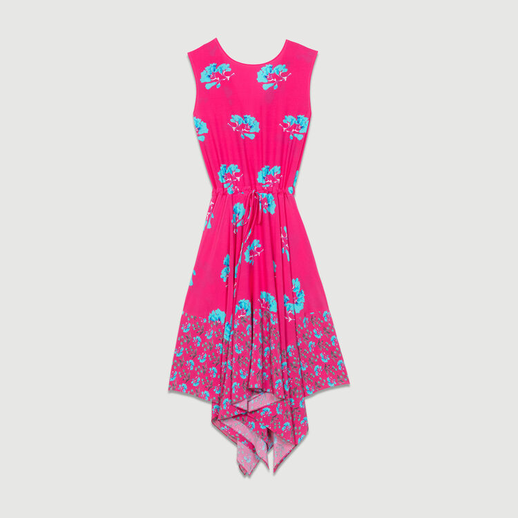 Sleeveless printed long dress : Dresses color PRINTED