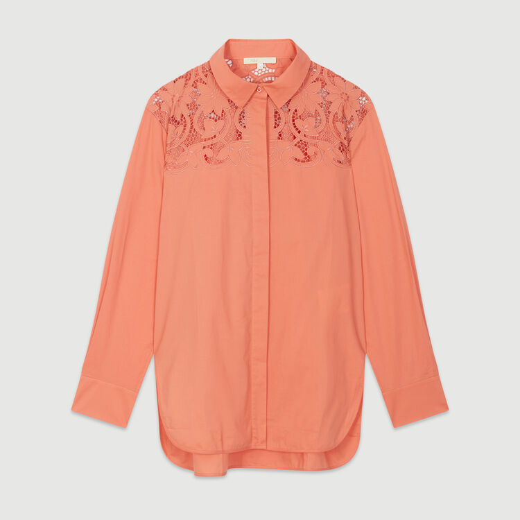 Guipure top : New in : Summer Collection color Coral