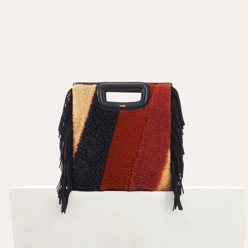 M bag in shearling and leather : M bags color Multico