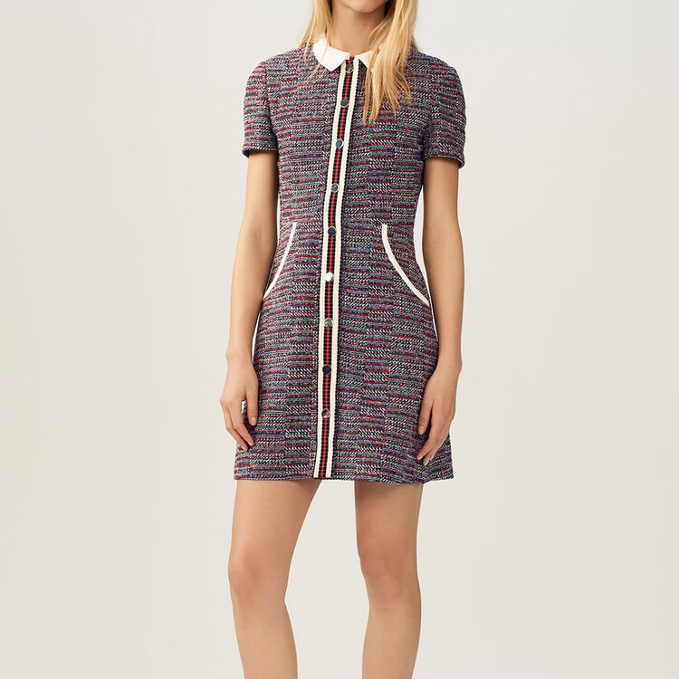 Tweed dress : Dresses color Jacquard