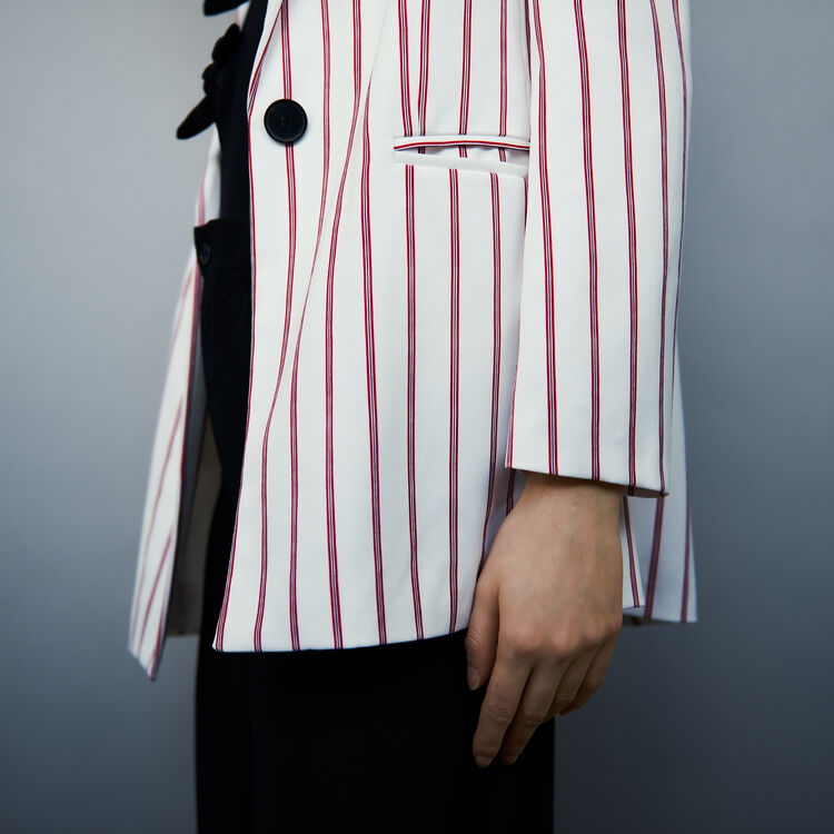 Striped suit jacket : Blazers color Stripe