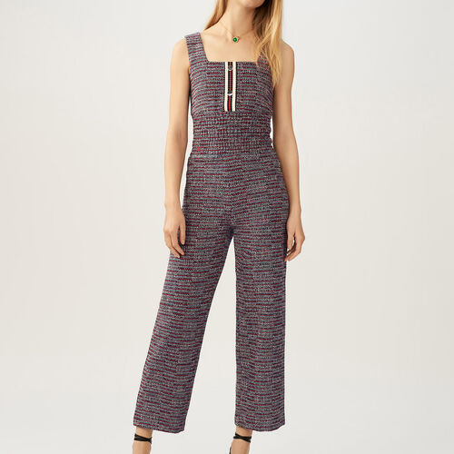 Tweed jumpsuit : Trousers & Jeans color Jacquard