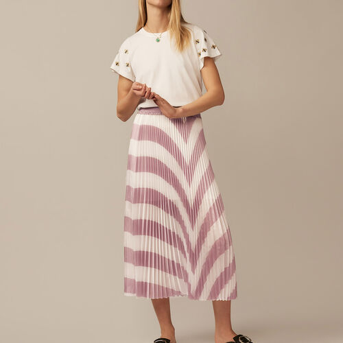Pleated long skirt - Pre-collection - MAJE