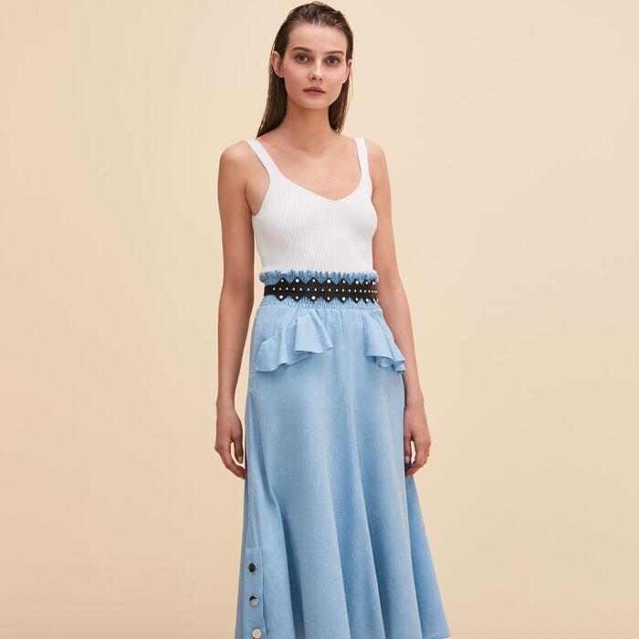Midi frilled skirt - See all - MAJE