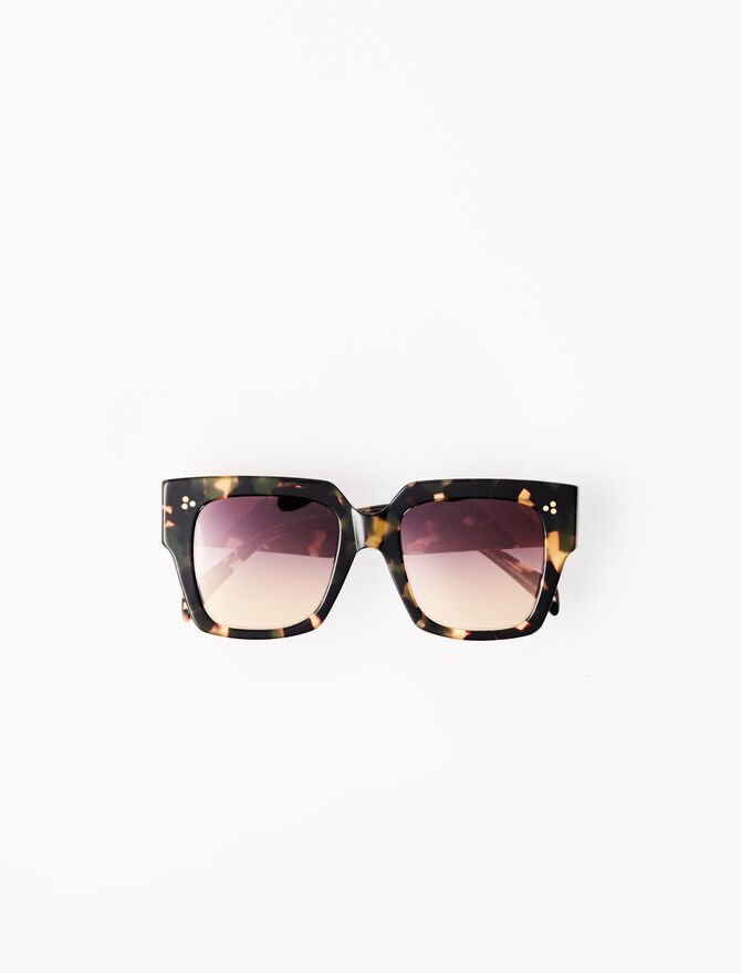Brown square sunglasses -  - MAJE