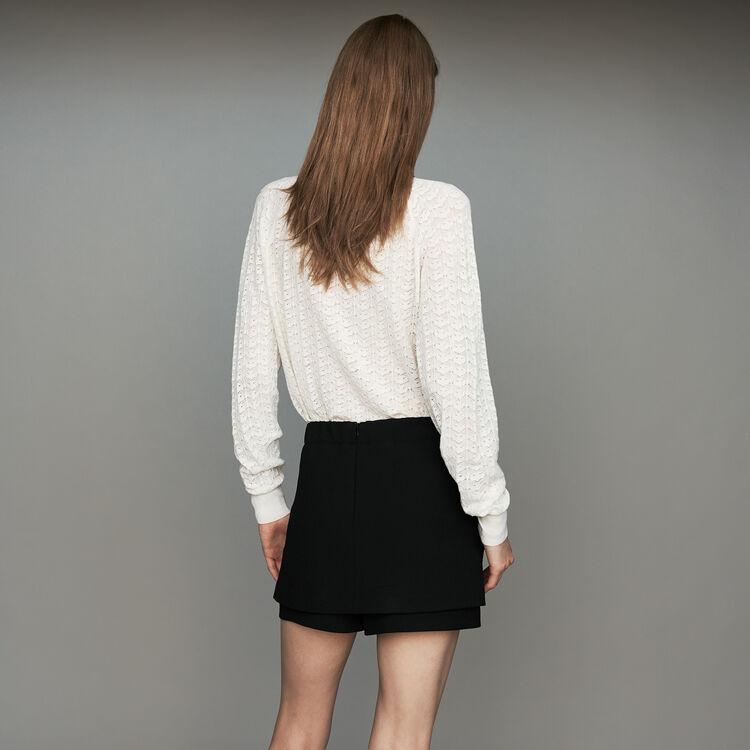Crepe skort : New Collection color Black 210