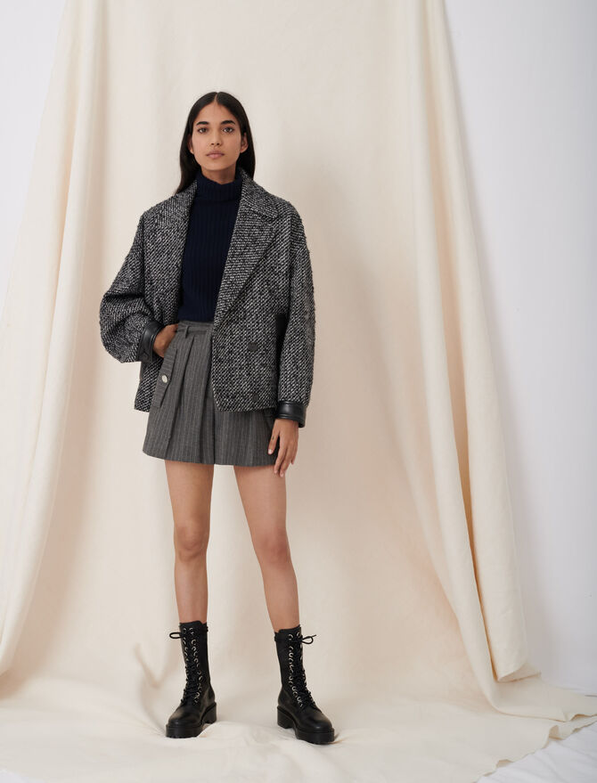 Marl blouson-style coat - This week - MAJE