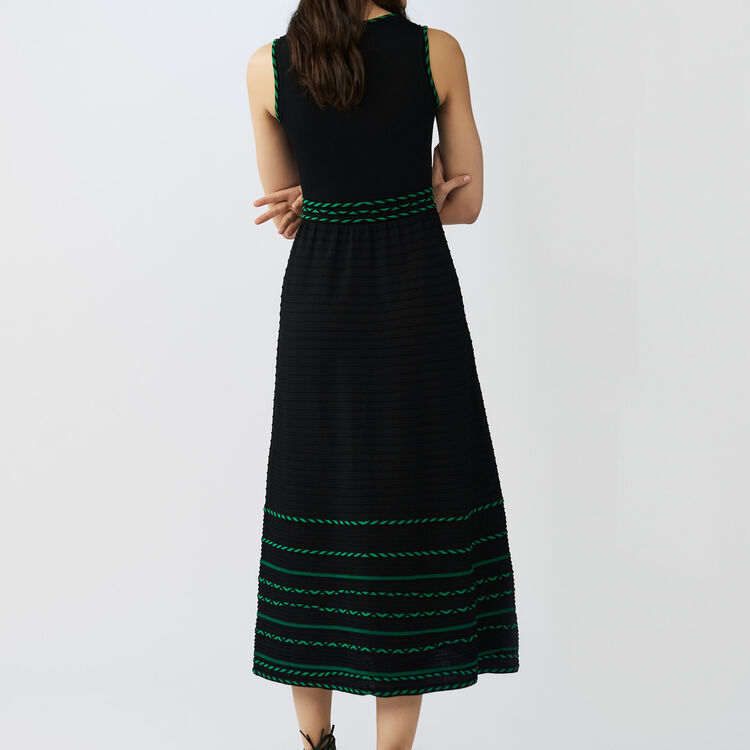 Long sleeveless knit dress : Dresses color Black 210