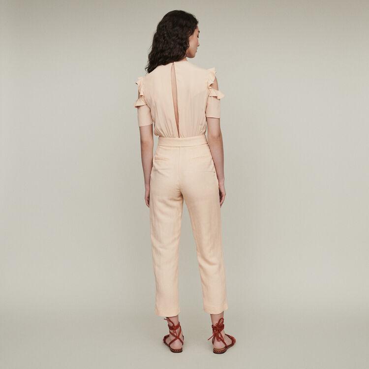 a9b43e34d7e PIRUIZE Bimaterial jumpsuit - Trousers   Jeans - Maje.com