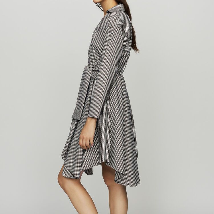 Shirt dress in houndstooth print : See all color CARREAUX