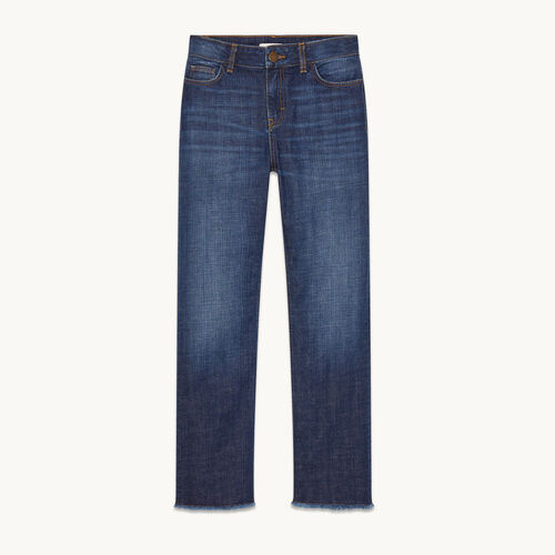 Stretch cotton straight jeans - null - MAJE