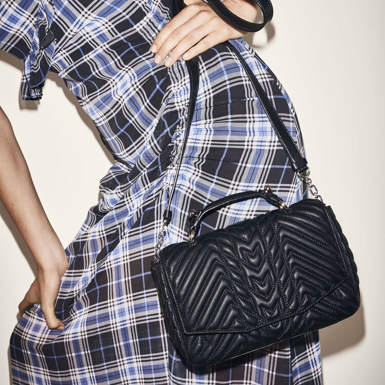 Mini satchel in quilted leather : LDance bags color Black 210