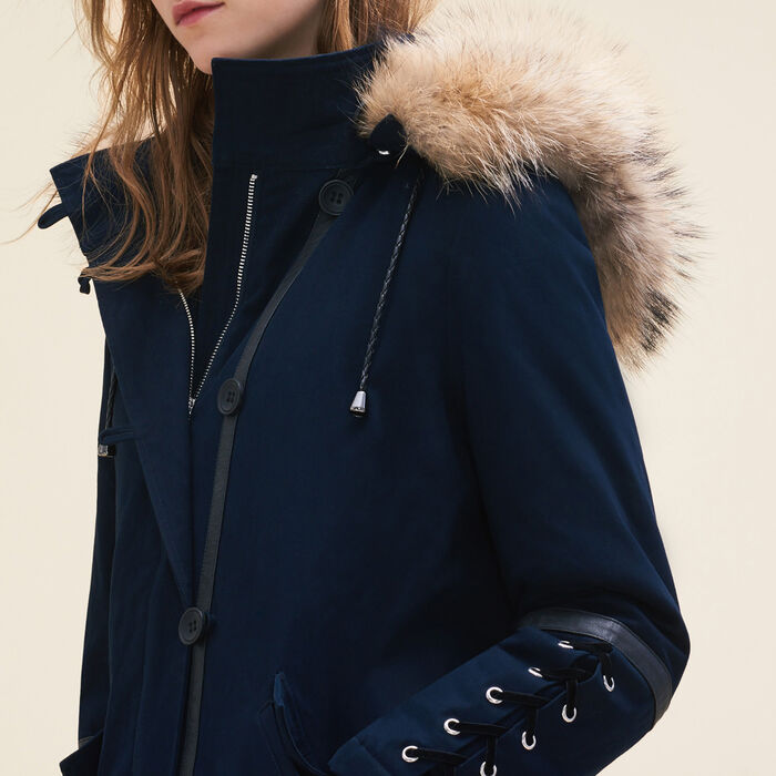 bas prix 470f7 bcead Cropped parka with laced detail