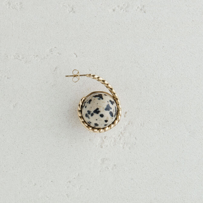 Right earring with natural stone - Jewelry - MAJE