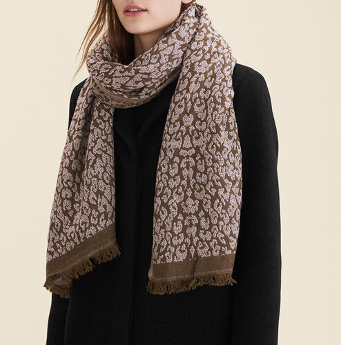 Leopard print scarf : Scarves color Pale Pink