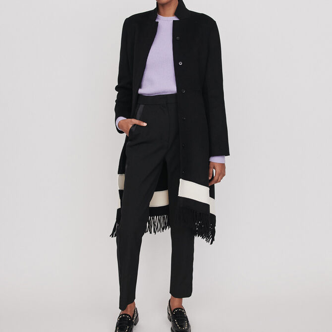 Double face coat with fringe - See all - MAJE