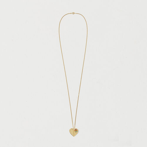 Necklace with heart medallion : Urban color GOLD