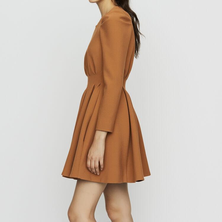 Skater dress with pleats : Dresses color Camel