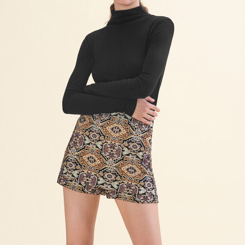 Cropped jacquard shorts : Skirts & Shorts color Jacquard
