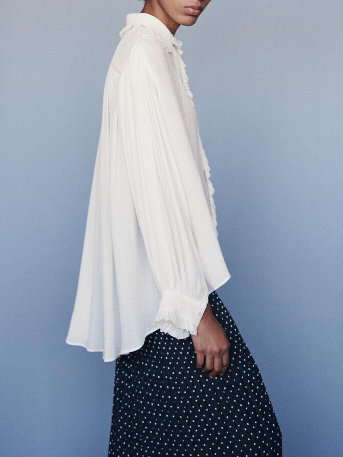 Ruffled shirt - SoldesFR_Tops_chemises - MAJE