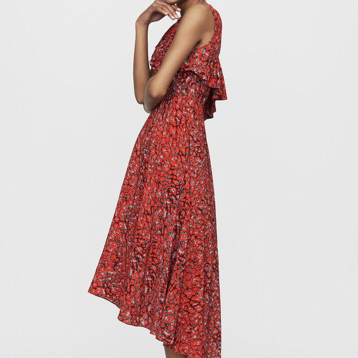 Asymmetric sleevless dress : Dresses color Print