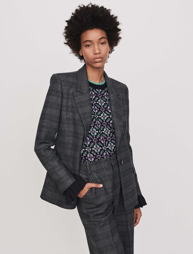 Prince of Wales jacket - Blazers - MAJE