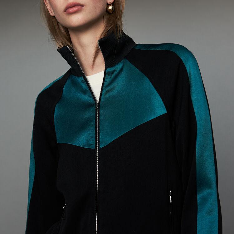 Bicolor athletic jacket : Blazers color Black 210