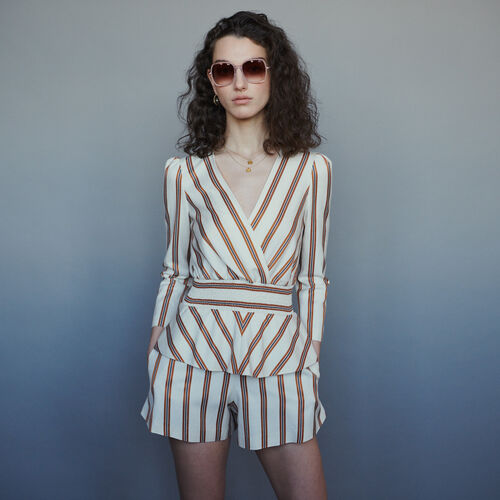 Striped romper : Skirts & Shorts color Stripe
