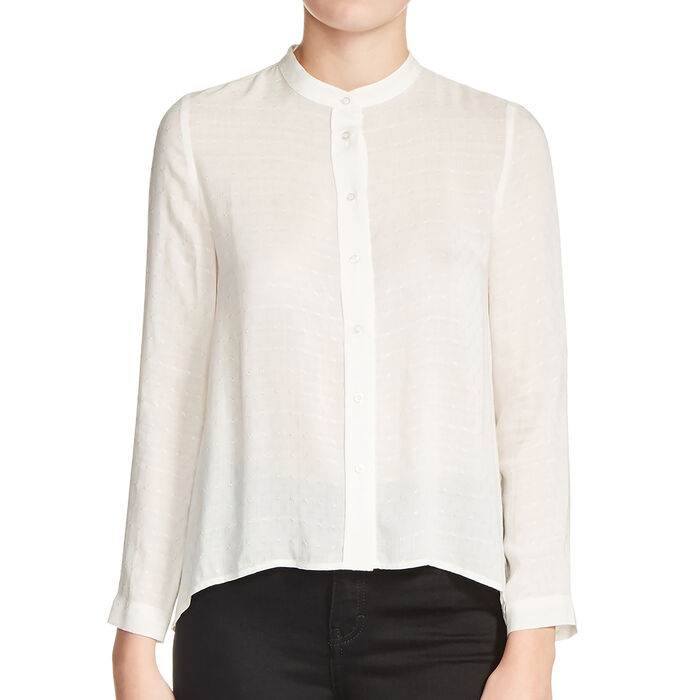 Blouse with knot back : In exclusivity color Ecru