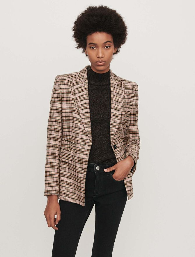 Fitted plaid jacket - Blazers - MAJE