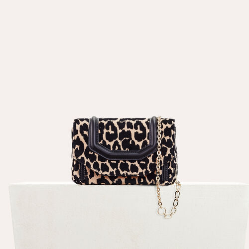 Leopard print evening bag - LDance bags - MAJE