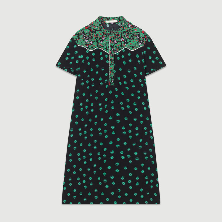 Printed shirt dress : Dresses color PRINTED
