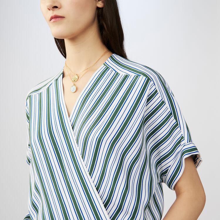 Striped jumpsuit : Trousers color Stripe