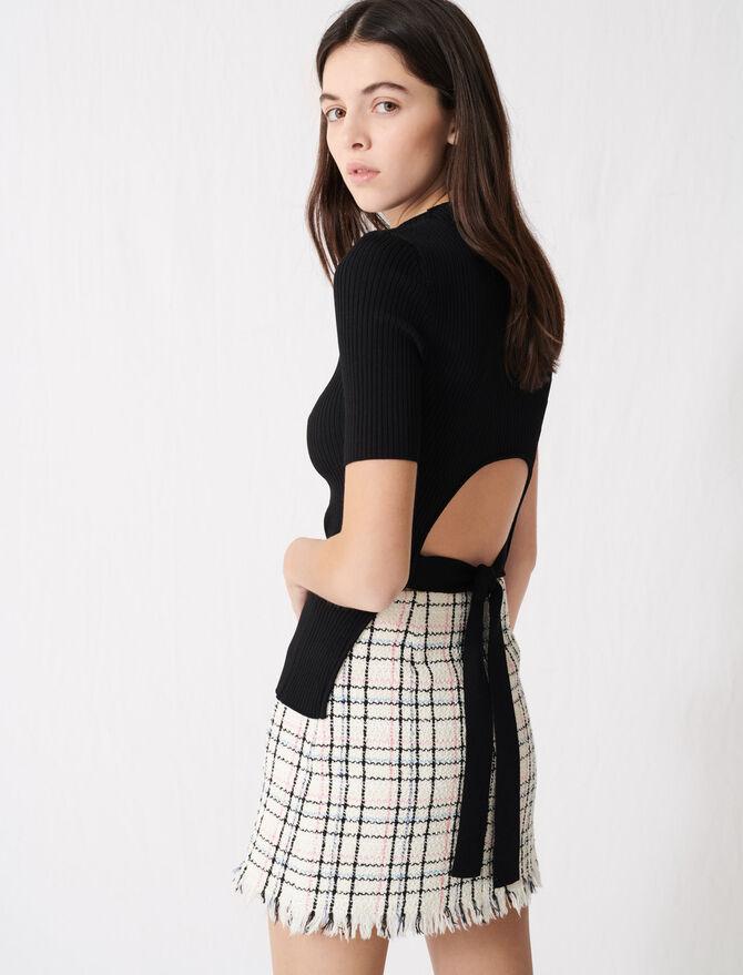 Ribbed knit fine polo-neck jumper - Knitwear - MAJE