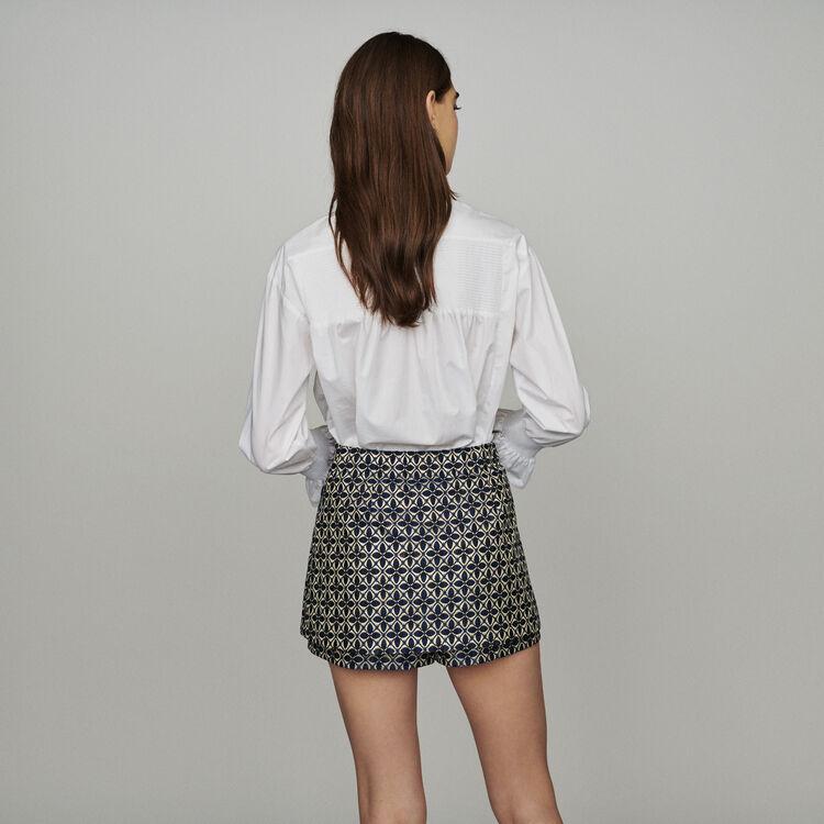 Trompe-l'oeil jacquard shorts : Skirts & Shorts color Jacquard