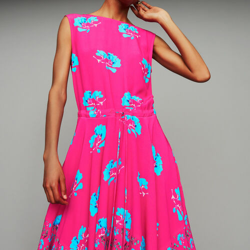 Sleeveless printed long dress : Ready to wear color PRINTED